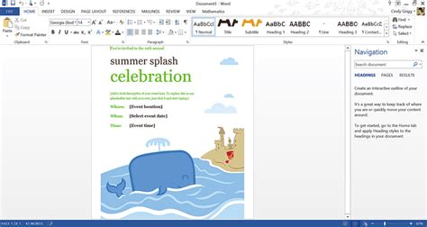 Free Summer Themed Templates From Microsoft Print Ad Templates For Word