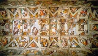sonnet caud 233 sur le plafond de la sixtine de michel ange