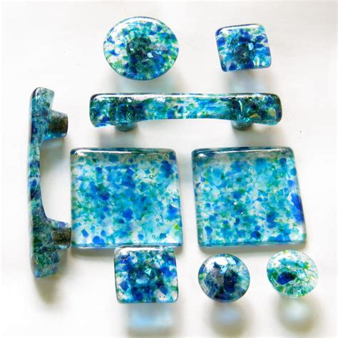 Handmade Hardware - handmade glass knobs pulls tiles and handles in a custom