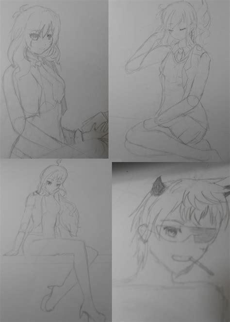 sketchbook quartet monthly sketch quartet by arione rii on deviantart
