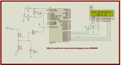 how to measure resistance using microcontroller smart tech digital ammeter circuit using pic microcontroller 16f877a