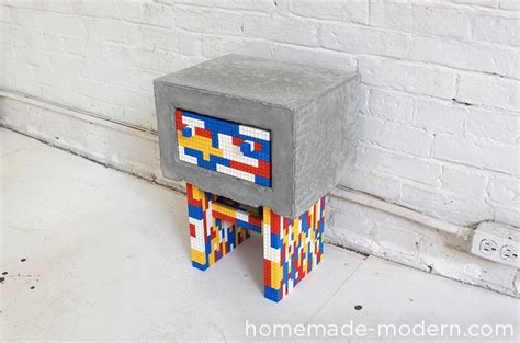 diy lego table concrete diy concrete and lego bedside tables via modern