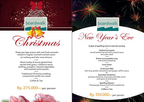 overseas restaurant new year menu 2014 boardwalk and new year menu bali garden