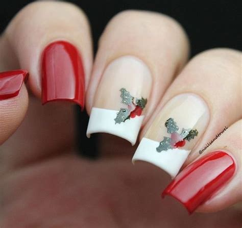 christmas decorated finger nails bright and festive nail designs for this season stylendesigns