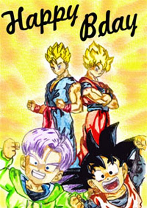 Dragon Ball Z Printable Birthday Cards | dragon birthday quotes quotesgram