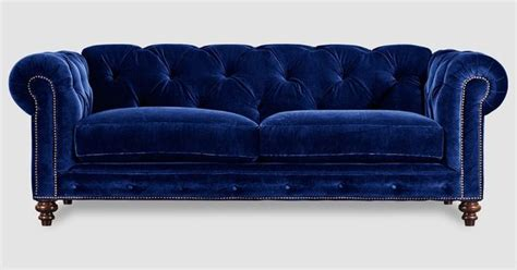 royal blue leather sofa chesterfield sofas armchairs sectionals sleepers