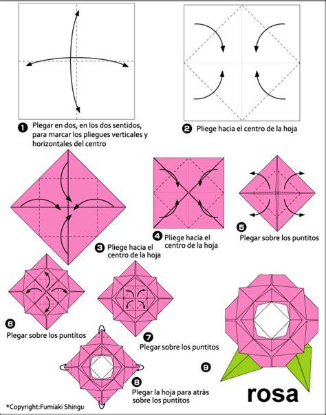Rosa De Origami - pasos para hacer rosa en origami imagui