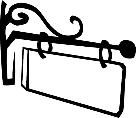 sign clipart hanging sign clip at clker vector clip
