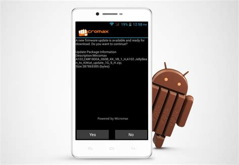 Kitkat Maxy micromax canvas doodle 3 gets android 4 4 update
