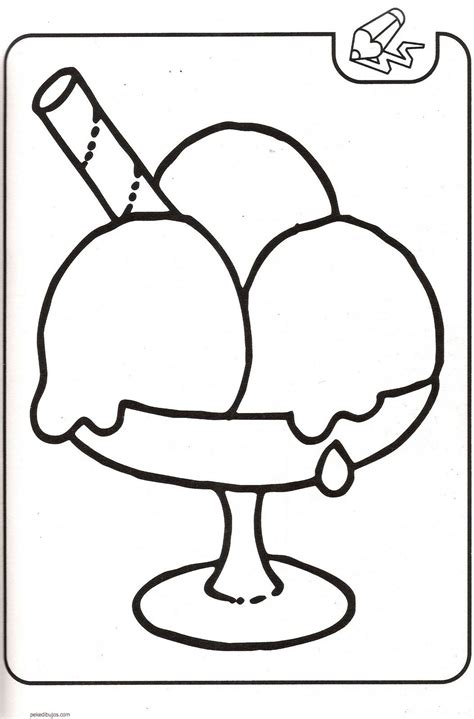 imagenes de helados kawaii para colorear dibujos de helados para colorear