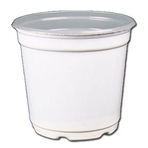 white pot 5 quot taller gloss white flower pot