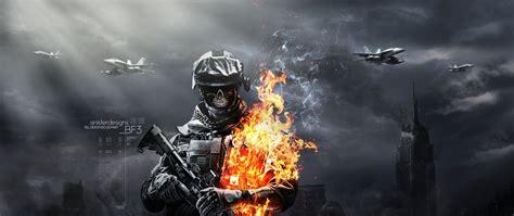 hd battlefield  skull fire gun ammunition