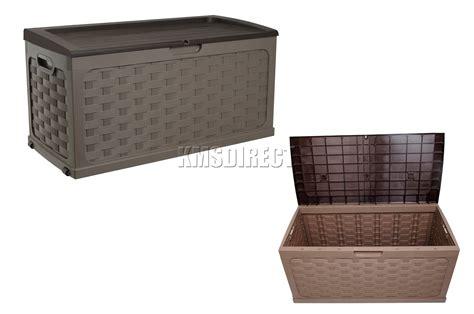 outdoor resin wicker storage cabinet starplast outdoor rattan style plastic storage chest shed