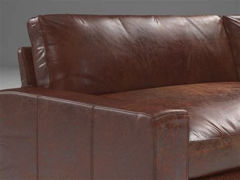10 maxwell leather sofa 3d model restoration hardware