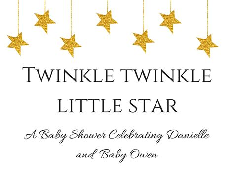 twinkle twinkle little star twinkle twinkle little star themed baby shower simply stine