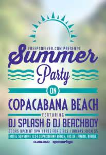 summer event flyer template summer free flyer template