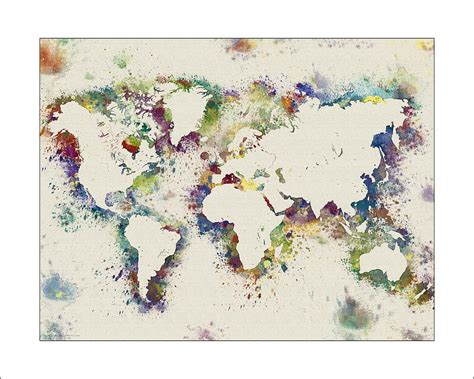 watercolor political map of the world digital art by michael tompsett world map watercolor digital art by watercolormaps and mary ann