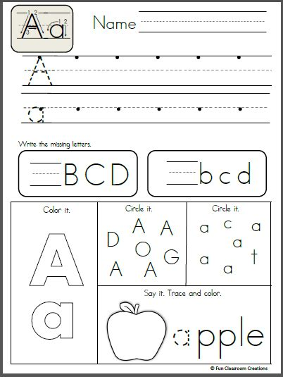 free alphabet letter a writing practice projects to try
