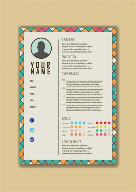 free colorful resume templates colorful modern resume template vector free
