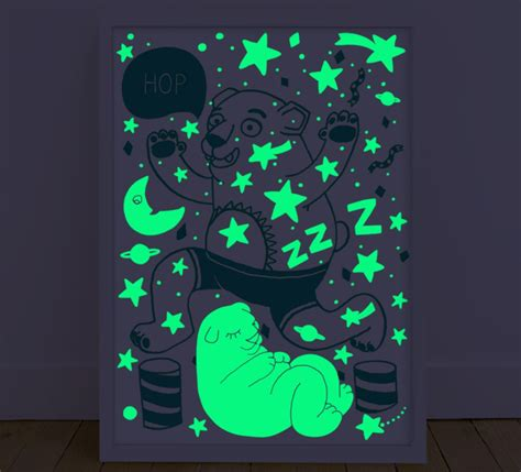 glow in the dark posters glow in the dark poster bear