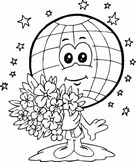 earth day coloring pages in spanish لبيب و لبيبة صور الكرة الأرضية لتلوين الحفاظ على البيئة