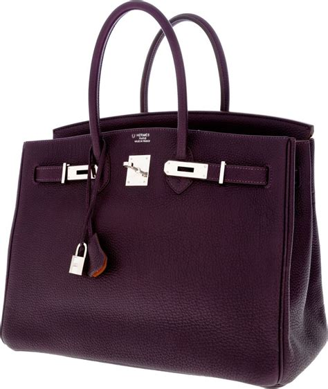 hermes etain grey leather 35cm birkin bag with gold