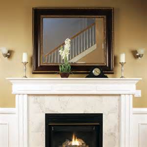 Custom size mirror over fireplace contemporary austin by