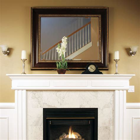custom size mirror fireplace contemporary