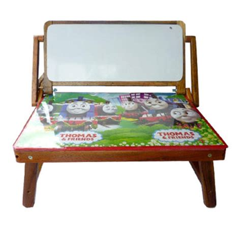 Meja Tulis Lipat meja lipat vernish papan tulis mainan kayu