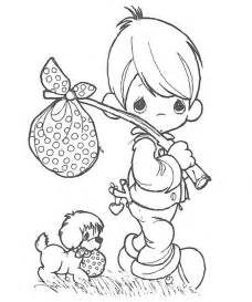 free coloring pages baby precious moments