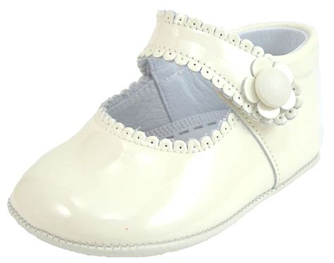 Ivory Crib Shoes by De Osu Spain Baby Ivory Patent Leather Dress Crib