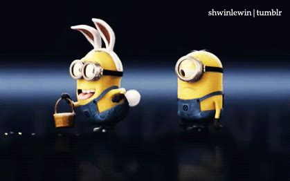 imagenes de minions moviendose easter gif find share on giphy