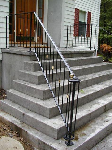 Porch Handrails For Steps Ledgerock Custom Metal Fabricators Image Gallery Of