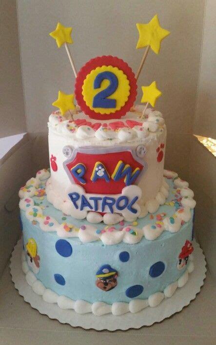 paw patrol cake decorations paw patrol birthday cake buttercream icing with fondant