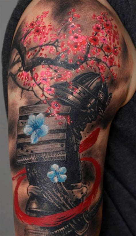 tattoo japanese sakura japanese sakura tattoo on shoulder tattoos pinterest