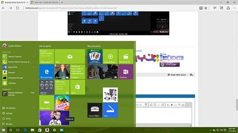 restore  default windows  start