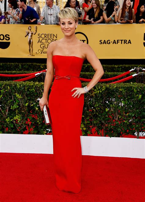Sag Arrivals by Kaley Cuoco Sweeting Pictures 21st Annual Screen Actors