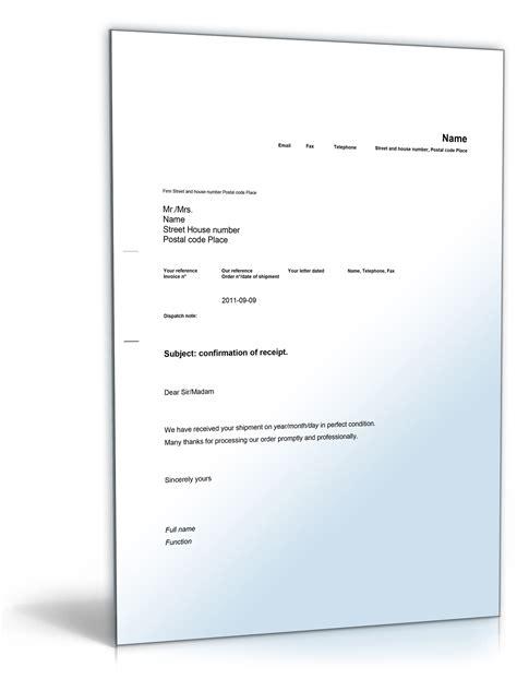Word Vorlage Unterschriftenliste Empfangsbest 228 Tigung Auf Englisch Confirmation Of Receipt De Musterbrief