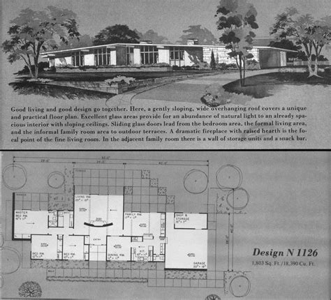 house planners atomic ranch house plans home planners design n1126 a