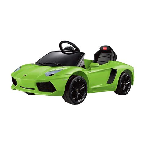 Ride In A Lamborghini Flying Gadgets Lamborghini Aventador Ride On Car Green