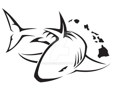 tribal shark tattoo design by phrance89 on deviantart