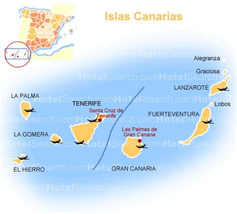 islas canarias y africa mapa islas canarias