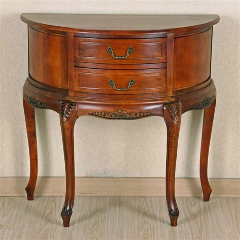 international caravan half moon 2 drawer wall table