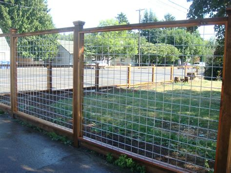 steel wire fence wood frame wire fence galvanized wire fence deck masters llc portland or