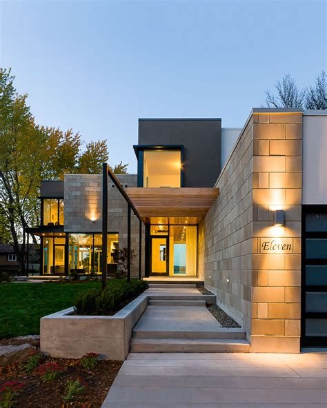 modern exterior cladding brick block studio mm