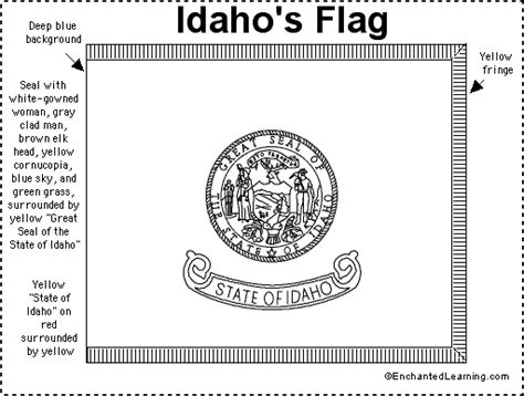 idaho flag printout enchantedlearning com