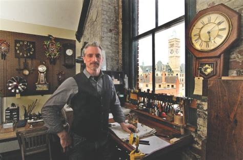 clock shop time marches on for old pieces in downtown lowell clock