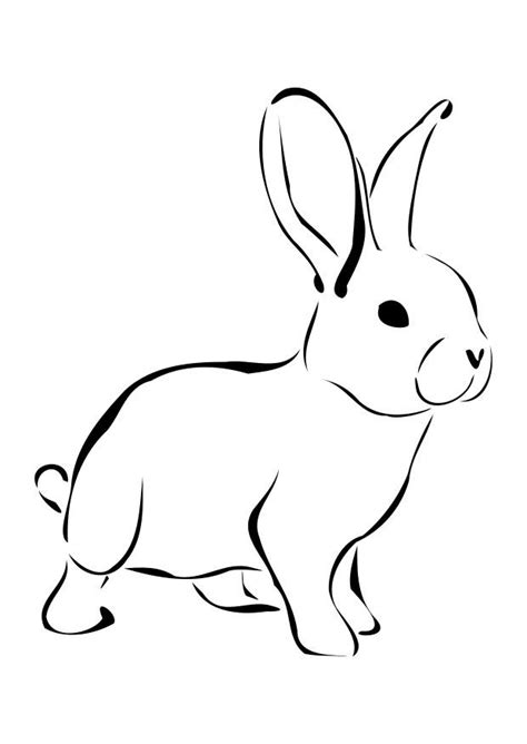 rabbit coloring pages pdf free printable rabbit coloring pages for kids