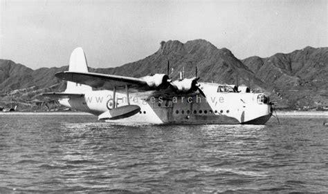 qantas flying boat photos 1940s short sunderland flying boat at kowloon bay gwulo
