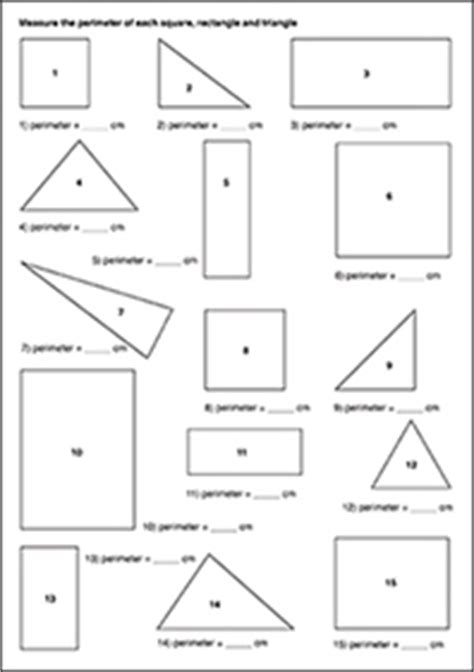 printable shapes to measure perimeter stage 3 perimeter student assessment
